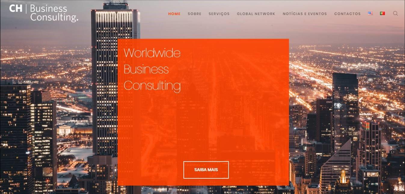 CH Business Consulting lança site internacional